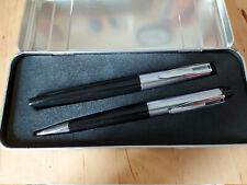 Parure bille plume Waterman Reflex Doué noir neuf 1990-2000  set BP FP black