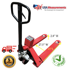 Pallet Jack Scale 5000 Lb x 1 Lb Optima Op-918E Warehouse Free Shipping