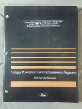 1994 FORD VILLAGER SERVICE MANUAL FACTORY ORIGINAL POWERTRAIN EMISSIONS