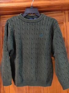 IZOD Boys' Green 100% Cotton Knit Pullover Sweater, size 10/12