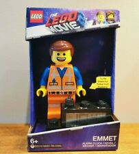 The Lego Movie 2 Emmet Talking Alarm Clock Light Up NEW9003967 - 6 Inches Tall