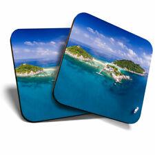 2 x Coasters - Koh Nang Yuan Thailand Island Home Gift #21991