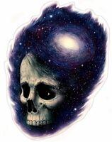 Cosmic Skull Aufkleber Sticker Kosmos Weltall Milchstraße Schädel Totenkopf