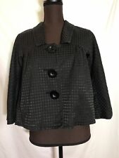 MAX STUDIO Black Cropped Swing Big Button Jacket  Size Small #PB3