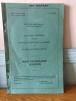 BRITISH RAILWAYS WESTERN REGION WORKING TIMETABLE RULES NOT FOR PUBLICATION