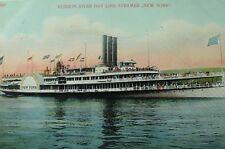 "C.1905-10 Hudson River Paddle Steamer ""New York"" Vintage Postcard P88"
