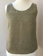 Windsmoor Gold Embroidered Top Size 14  #JT2