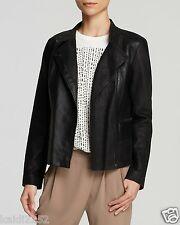 VINCE Texture Block Contrast Paper Leather Moto Jacket Size S ~NWT~ $1295 ~