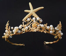 New Design Starfish Baroque Tiara Crown Wedding Bridal Headdress Hair Accessory