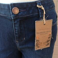 Coldwater Creek Blue Denim Bootcut Jeans Size 4 Natural Fit Dark Wash New Tags