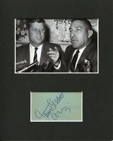 Stewart Udall Secretary of the Interior Signed Autograph Photo Display W JFK PSA