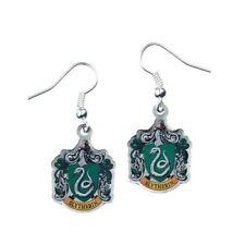 Harry Potter argento placcato Serpeverde Crest Orecchini Pendenti su carta di Harry Potter