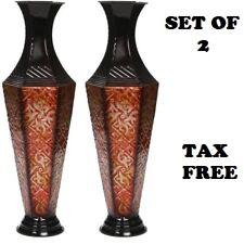"2 SET Metal Vase New Tall Floor Decor Decorative Large Home Flower Vases 23.6""H"