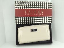 Women's RALPH LAUREN Ivory White LEATHER CHISWELL XL Wallet - $128 MSRP - 10%