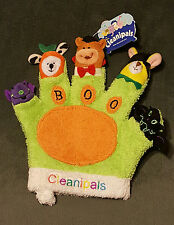 NWT CLEANIPALS BOO Halloween Animals Monsters on Fingers BATH MITT / HAND PUPPET