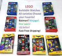 Lego Buildable Watch All Varieties Batman Joker Batgirl Ninjago NEW! Great Gift!