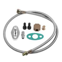 Turbo Oil Feed Line Kit Supply Complete Kit Fit For T3 T4 T3/T4 T70 T66 T04E T61