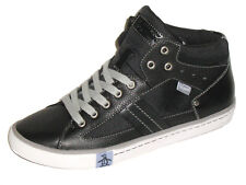 Original Penguin Freeze Hi Top Men's Shoes Leather Fashion Sneakers Black Size 9