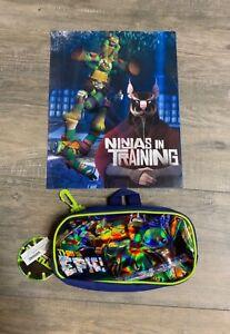Ninja Turtles Blue Pocket Folder and Pencil Bag