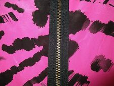 Pure Silk Limited Collection Wild animal pink/black dress  size8, Sexy Back Zip!