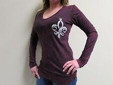 NWT Liberty Wear USA Angel Wings Womens Long Sleeve Bling Shirt - SOFT Tee