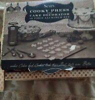 Vintage 1956 Sears Aluminum Cooky Cookie Press & Cake Decorator 19 Pc Complete
