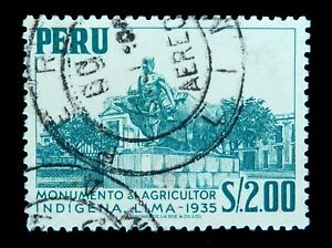 Peru Stamp 1952 Monument of Agriculture of Indigenous  People Used