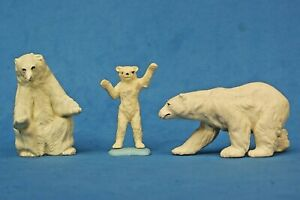 Britains Plastic Zoo Models: POLAR BEAR FAMILY including STANDING CUB ...!!