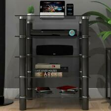 Ryan Rove Hamlin Clear Glass Component Stand - Entertainment Center, Home The...