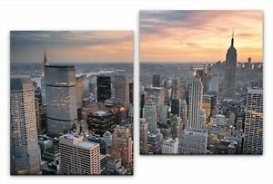 Leinwandbild 2x70x60cm Skyline von New York, Manhattan