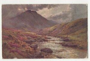 A De Breanski Tavy Cleave Devon 4018 Embossed Tuck Oilette 1933 Postcard 299c