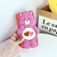For Apple iPhone X 5 6S 7 8 Plus 3D Cute Cartoon Silicone Rubber Soft Case Cover