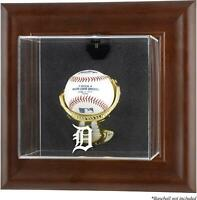 Tigers Brown Framed Wall- Logo Baseball Display Case - Fanatics