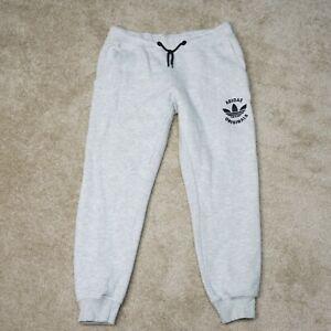Adidas Originals Sweatpants Adult L Large Womens Gray Joggers Ankle Trefoil