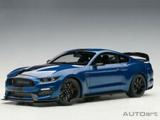 AUTOart 72933 Ford Shelby GT-350 R 1:18 Model Lighting Blue with Black Stripes