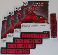 4 X ATROCITUS RAGING VENGENCE 76/142 War Of Light Dice Masters DC