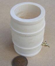 1:12 Natural Finish Wooden Rain Barrel & Tap Dolls House Miniature Accessory L