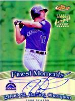 2001 Topps Finest TODD HELTON Refractor Autograph SP Colorado Rockies