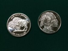 2 BuffaloIndianhead 0.999 fine silver, Brilliant, uncirculated new from Capsule