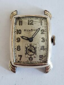Vintage Bulova Men's Wristwatch 1944 Blackout 8AH 17 Jewel Watch 10K RGP Bezel