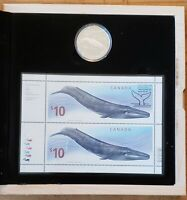 Canada 2010 Blue Whale Silver Proof Coin & Stamp Set.