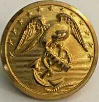 United States Marine Corps USMC Brass Button 26 mm - Waterbury Button Co. #4948