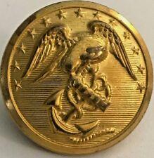 United States Marine Corps USMC Brass Button 26 mm - Waterbury Button Co. #4948