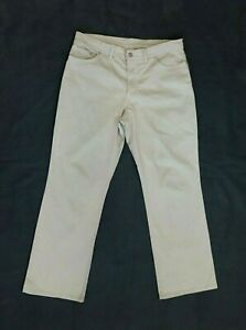 Bogner Womens Chino Pants Trousers Ivory Size US 14 2XL EU 44 Cotton