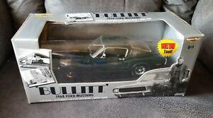 1968 Ford Mustang Bullitt 1:18 Ertl American Muscle NIB box damage
