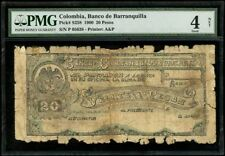 Barranquilla, Colombia 20 Pesos, 26-7-1900, PMG Graded Good 4 Net SCWPM-S258