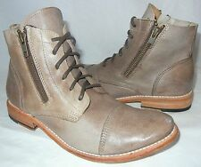 Bed:Stu Women's Bonnie Distressed Leather Lace Up Side Zip Boots $210 size 11