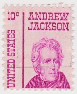 (USB238)1965 USA 10c Andrew Jackson ow1268