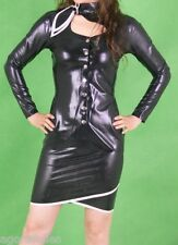 SEXY ENS. 2 PIECES  LATEX  avec foulard - RUBBER DRESS