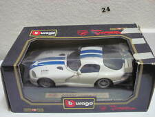 BURAGO DODGE VIPER RT/10 DIAMONDS WHITE  1:18 SCALE